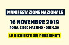 Pensionati il 16 novembre al Circo Massimo a Roma, le nostre richieste